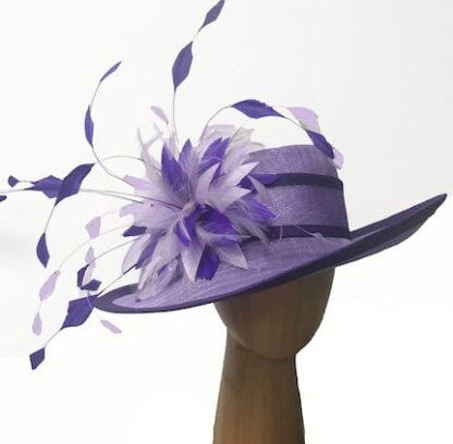 violet purple derby hat