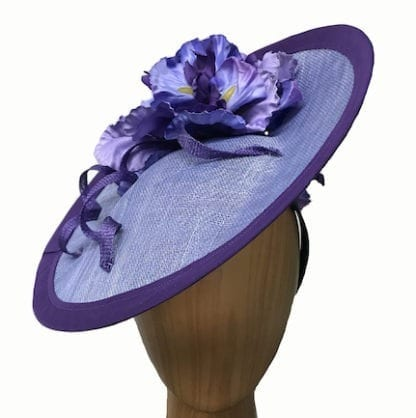 periwinkle iris fascinator