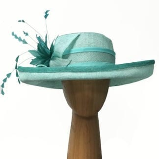 aqua and teal derby hat