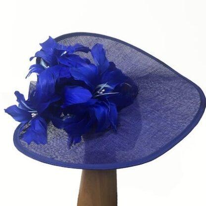large cobalt blue fascinator