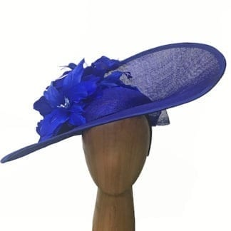 large cobalt blue fascinator