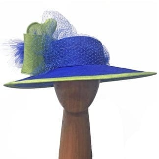 blue lime derby hat
