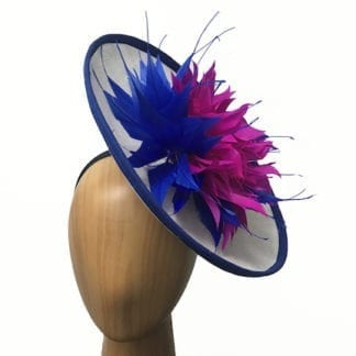 royal bright pink fascinator