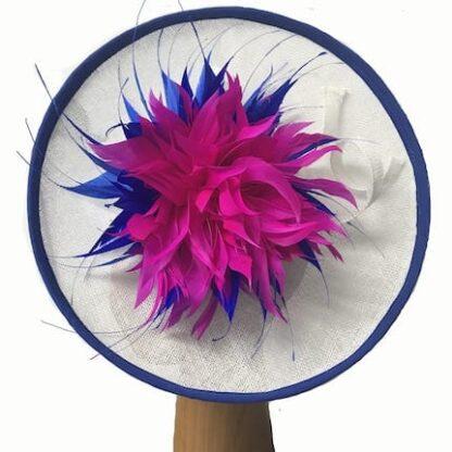 royal bright pink fascinator