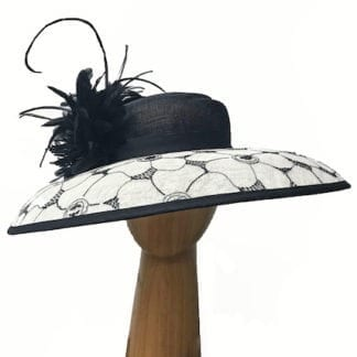 XL Black and Ivory hat