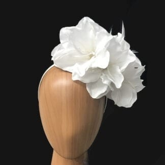 white lilies fascinator