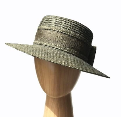 small olive straw hat
