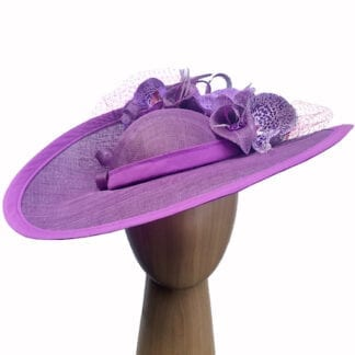 grape pink fascinator hat