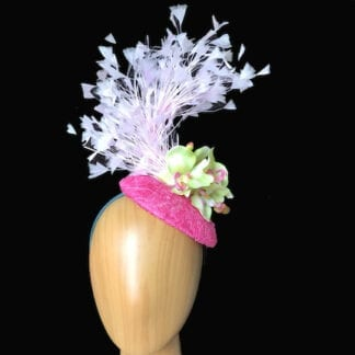 small pink lime fascinator