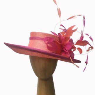 orange coral pink hat