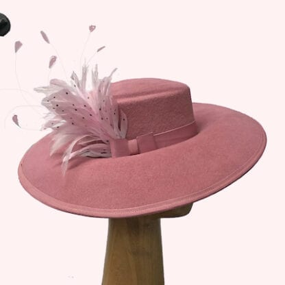 mauve pink wool hat