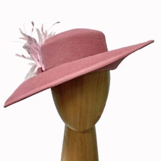 mauve pink wool hat